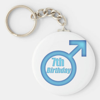 Boys 7th Birthday Gifts Basic Round Button Keychain