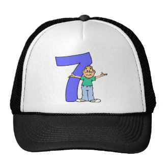 Boys 7th Birthday Gifts Trucker Hat