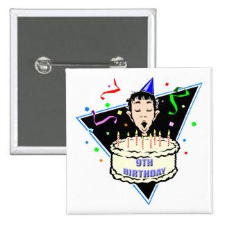 Boys 9th Birthday Gifts Pinback Button