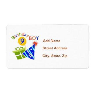 Boys 9th Birthday Label