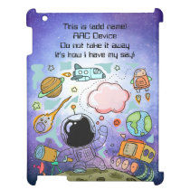 BOYS AAC Aid -DO NOT TAKE IT AWAY - SPACE Case For The iPad