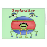 Boys Alien T Shirts and Boys Gifts Greeting Card