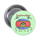 Boys Alien T Shirts and Boys Gifts Pinback Buttons