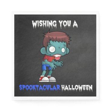 Halloween Themed Boys and Ghouls Boy Zombie Spooktacular Halloween Napkin