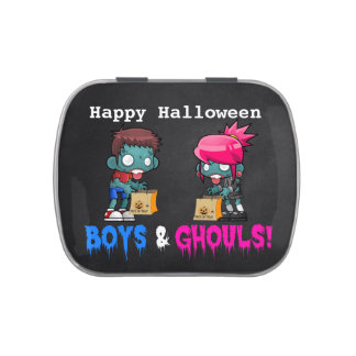 Boys and Ghouls Zombie Halloween Party Jelly Belly Tin