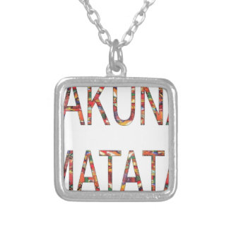 Boys and Girls Hakuna Matata African Vintage Color Silver Plated Necklace
