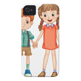 Boys and girls holding hands Case-Mate iPhone 4 case