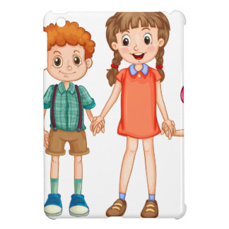 Boys and girls holding hands iPad mini cases