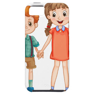 Boys and girls holding hands iPhone SE/5/5s case