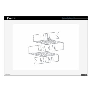 """boys and guitars decals for 15"""" laptops"""