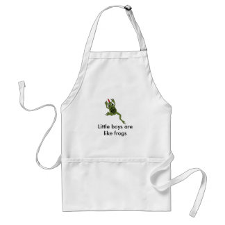 Boys are like frogs adult apron