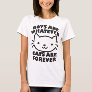 Boys Are Whatever Cats Are Forever Tumblr Blogger T-Shirt