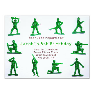 Boys Army Theme Birthday Invitation