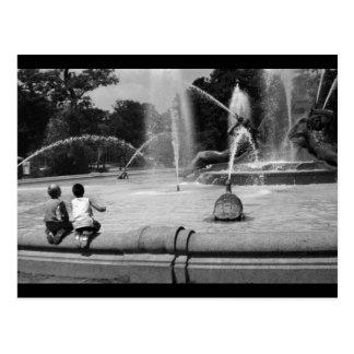 Boys at Logan Circle Postcard