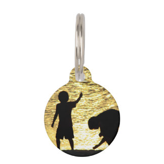 Boys at Sunset Pet ID Tags
