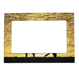 Boys at Sunset Magnetic Photo Frames