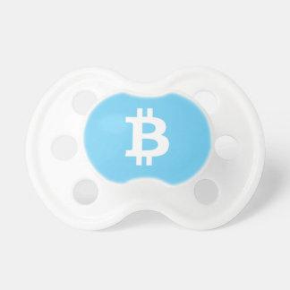 Boy's Baby Blue Bitcoin Pacifier BooginHead Pacifier