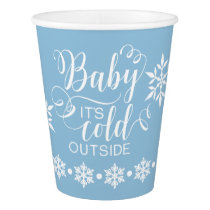 Boys Baby It's Cold Outside Shower Paper Cup