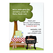 Boys Baby Shower Bar-B-Que Invitation at Zazzle