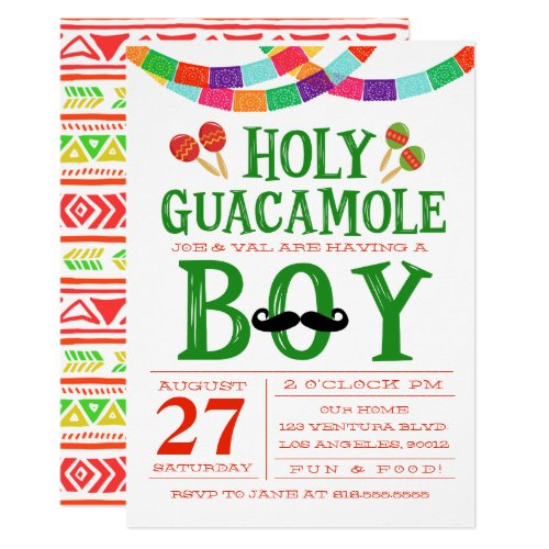 Boys Baby Shower Fiesta Invitation