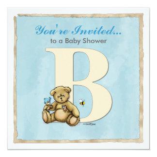 Boys Baby Shower Invitation - abcs Bear