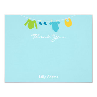 Boys Baby Shower Thank You Note 4.25x5.5 Paper Invitation Card