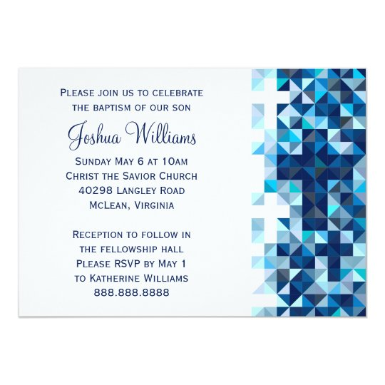 Confirmation invitations announcements zazzle boys baptism baby dedication first holy communion card stopboris Image collections