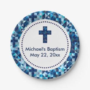 Boy\u0027s Baptism Christening First Communion Paper Plate  sc 1 st  Zazzle & Christening Plates   Zazzle