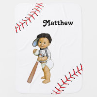 Boy's Baseball Baby Blanket