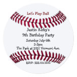 Boy's Baseball Birthday Party Invitation