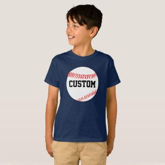Boy's Baseball Custom Color & Team Name T-Shirt