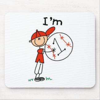 Boy's Baseball I'm 1 Mouse Pad