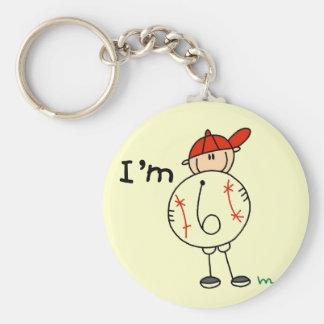 Boy's Baseball I'm 6 Tshirts and Gifts Keychain