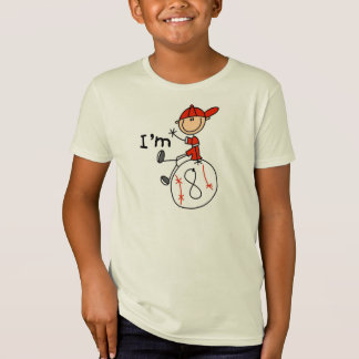 Boys Baseball I'm 8 T-Shirt