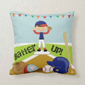 Boys Baseball T-Ball Personalized Pillow