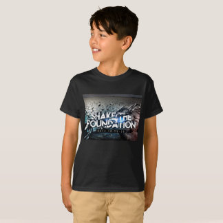Boys Basic Black Shake The Foundation T Shirt