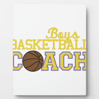 Boys Basketball Coach Plaque