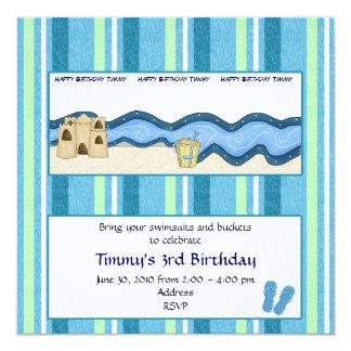 Boys Beach Birthday Party Invitation