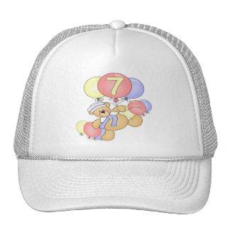 Boys Bear 7th Birthday Gifts Trucker Hat
