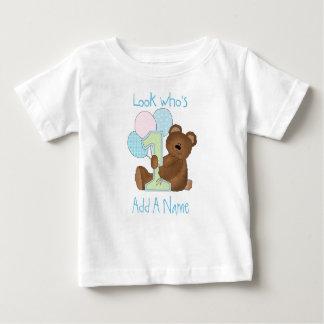 Boys Bear Look Who's 1 Birthday Tshirt