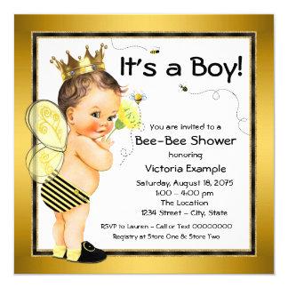 Boys Bee Baby Shower Card