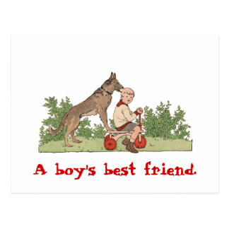 """Boy's Best Friend"" Postcard"