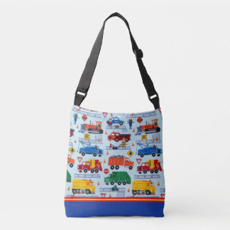 Boys Big Trucks Cross Body Bag