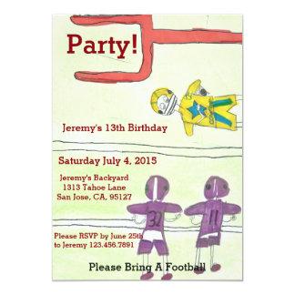 Boys Birthday Party Card