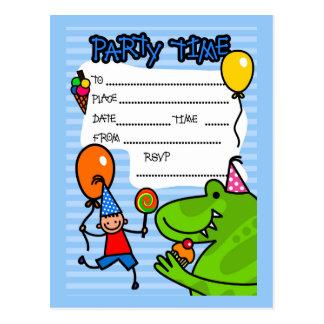 Boys Birthday Party Invitation Postcard