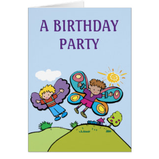 Boy's Birthday Party Invitation:  We Can Fly! Card