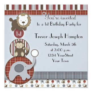 Boys Birthday Party Invitation with Appetizers