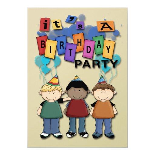 Boy's Birthday Party Invitations
