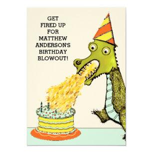 dragon birthday invitations zazzle