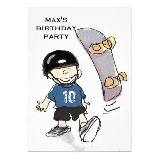 boys birthday party theme ideas card